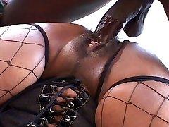 Big ass and tits ebony chick fucks like hell
