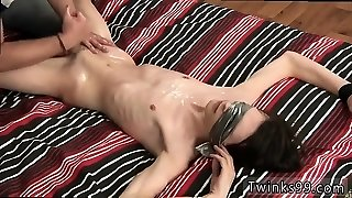 Handballing and spunk gay Slippery Cum Gushing Elijah