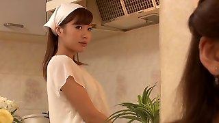Haruna Saeki, Ran Asami in Lesbian Building Maid part 2