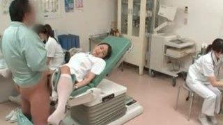 Cute japanese nurse gets horny part5