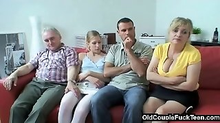 Older duo seduces newlyweds