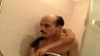 Teen Giving Old Man A Shower