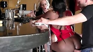 Brazzers - Dark-hued and ivory, anal threesome