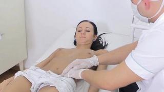 Bony Slut Martina Gets Felt Up By Doctor