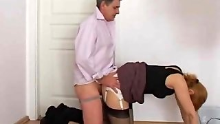 jerking on secretary panty booty