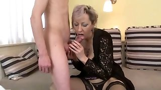 sex with cougar in beautiful lingerie