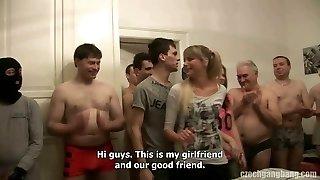 GIRLFRIEND AND HER SISTER GET Torn Up AT CZECH Gang BANG