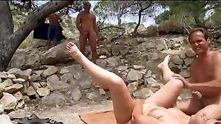 Beach sex voyeur and play