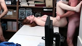 ShopLyfter - Catching and Screwing Red Head Thief