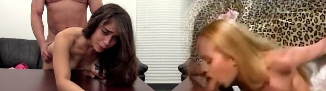 Nympho Stripper Loves Ass-fuck on Casting Sofa