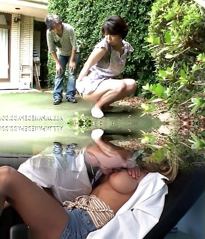 Japanese AV Model is a horny maid enjoying a stiff pounding