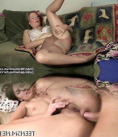 Yankee mummy Katrina gets herself in the mood