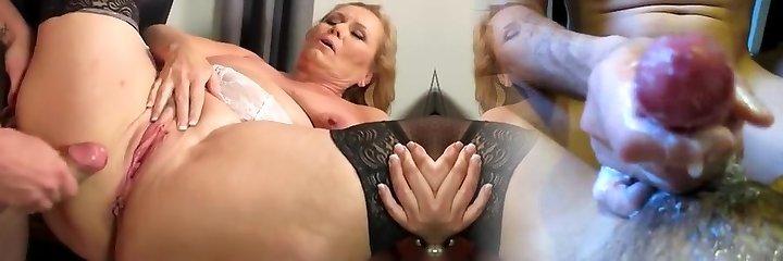 Hottest homemade Mature, Stockings sex video