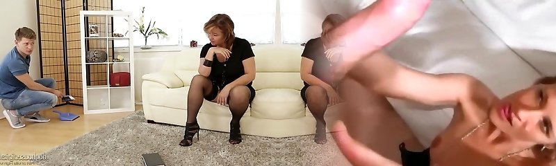 Mature bi-atch in nylon stockings named Yahra fucked brutally by handsome youthful man
