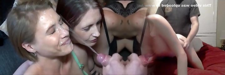 Amazing Endless Jizz Shot on Hot Milf Face