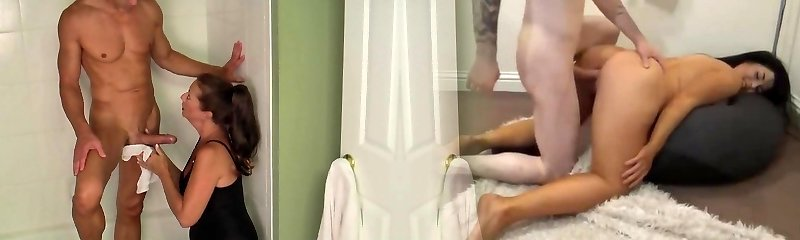Mommy Bath And Blowjob While Fingerblasting His Pink Pucker