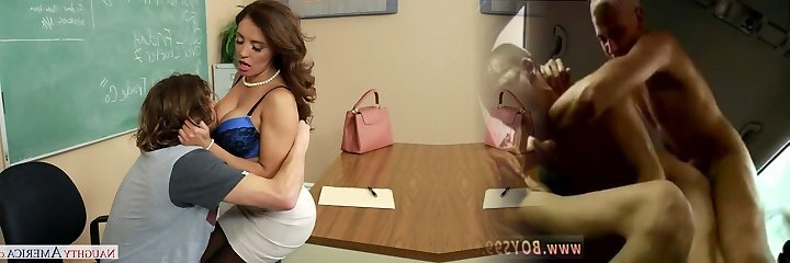 Insane mommy Francesca Le lures scorching stud Tyler Nixon  in the classroom