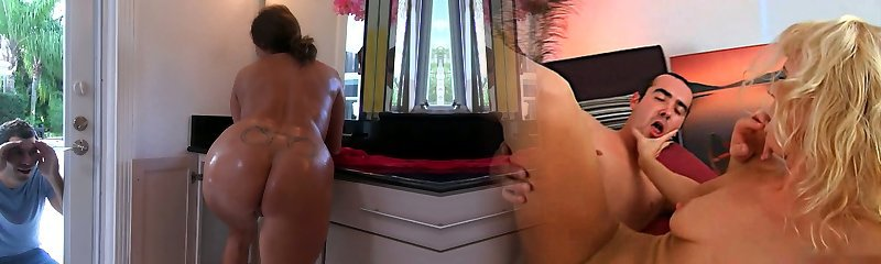 Hefty mommy takes a shower soaping her sensuous body and later gives a quality blowjob