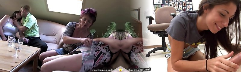 Intimate amateur sex soiree with mature moms