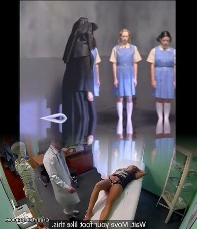 A group of teen babes in weird nubile porno