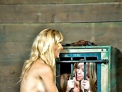 The tit torment makes Cherie DeVille scream out in less than a second. Her voice rings out clearly from the start. It will probably be the most pleasant thing she endures today. The copper wiring wound around her toes is a clear sign of what comes next: shocks. The cross, the canes, the current, all of them make her scream, but in the end it is the simple strappado that makes her submit.