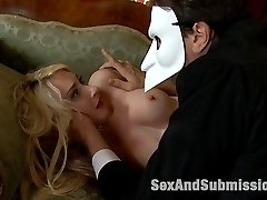 Missy Woods humiliates the butler and treats him like a slave. He then takes revenge and turns her into his sex slave. Now she is humiliated, put into heavy restraints, punished and fucked in the ass. This is a fun and sexy role reversal carried out beautifully by Missy Woods and Steve Holmes.