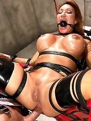 When Bill's suspicions of his wife being unfaithful turn out to be true, he sets out to punish her with extreme sexual domination.  Ava gets strapped into a futuristic sex chair and overloaded with sensations for her infidelities.  While in bondage, she is anally fucked and takes a man size fist all the way in the ass making her orgasm hard.