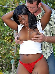 Super hot big booty babe ambrosia gets pounded hard by the gardener in these hot fucking pics