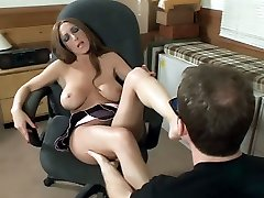Savanna Jane gives her man a foot wank and gets her pretty feet worshipped in this scene