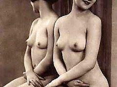 Vintage sweethearts posing