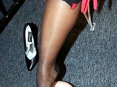 Ebony nylon domination