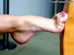 Missy Stone has super ticklish soles. And real-life former cop Jack Lawrence is going to work them good. By the time he\'s done tickling and sucking those sexy size 7 feet, she\'s going to be begging him to do more. Those big, beautiful eyes of hers open wide as he gives her orgasms with his tongue, fingers and thick cock. Missy even wraps her deep arches around Jack\'s meat and uses her tiny, skinny toes to drive him mad. He drops a load into her mouth which she obediently swallows for the officer.