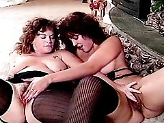 Hairy mature babes rubbing their swollen clits
