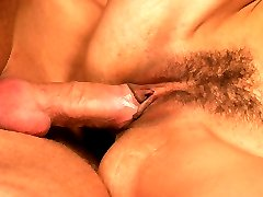Angel Wildfire gives a big a cock a sensual blowjob and got her hairy pussy toyed and fucked with