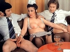 Retro pussy fucked by guys
