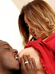 Horny and sultry fatty Marisella gets wild and gives an ebony stud a ride in her fat and juicy cunt