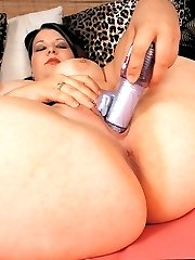 Huge cocks gets DD Licious so wet and naughty!