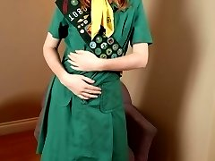 Girl scout in pantyhose
