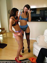 Dancing panty girls