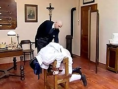 Humiliating punishments and brutal canings in historical sceneries