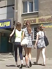 Girls agree to show their pretty upskirts