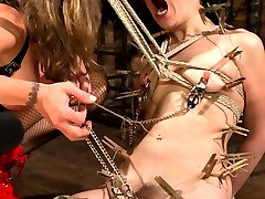 Local model Juliette March enjoys pushing her limits with tough bondage and heavy corporal punishment. She is matched with Felony who shows Juliette no mercy. This is another intense connection with heavy lesbian BDSM. Juliette endures hard spanking, gets fucked in suspension bondage, double zipper, gets squirted on, ass worship, heavy flogging, pussy torture and deep strap-on ass fucking to multiple orgasms in handcuffs!