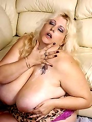 Rock Rose is a mature BBW with a huge set of sets and an even bigger sex drive. Watch her large body get pounded hard from behind