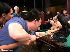 Isis and JP meet up with Lily LaBeau for some fun and they don\'t like what they see. She is so desperate for it she\'ll do ANYTHING they want! They hand this whore-slut-bitch-lying-cunt over to pool shark Bill Bailey to get fucked sideways to sunday.