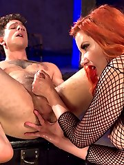 Today, Corbin Dallas walked in to the Divine Bitches dungeon with a virgin prostrate - never stroked, never pressed, certainly never milked. He had yet to feel its pleasures: the intense need to piss and cum simultaneously, the torment and unimaginable sensation coursing up his cock. And today - after one of the most intense orgasams ever - this anal slut was released from our dungeon a new man. Maitresse Madeline blindfolded, teased, flogged, and whipped her eager slave, denying him the pleasure of looking at her divine pussy while he sniffed its nectar and strap-on fucked the Maitresse with his face. She then straps on the absolute biggest, thickest dildo at Kink and pushes Corbin to the edge of orgasm without even touching his cock, which drips at the very mention of the giant dick in his ass. The Maitresse, having warmed up Corbin\'s hole, then slides her legendary prostrate-milking fingers into his ass and absolutely blows his mind, extracting every drop of cum from this new devotee of the Divine Bitches.
