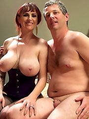 Mz Berlin is simply Divine in our latest cuckolding update! Berlin and her husband Jimmy are a loving couple who always fantasize about her fucking another man in front of him. Jimmy doesn't like to admit it but he secretly likes it and by the reaction of his cock he can't lie! While out to dinner one evening Berlin decides the fantasy ends now and she wants to make it reality! Berlin insists on Jimmy asking the much younger handsome waiter to come home and fuck his wife while he has to sit and watch in chastity. Wolf does just that and the night turns into a kinky, embarrassing, cuckolding fuck fest where Jimmy not only gets Berlin's bull hard with his mouth while taking a strap-on cock deep in his ass he also takes an entire load of cum to his face just to see his wife smile.