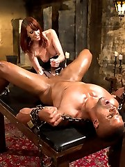 Maitresse Madeline allows Robert Axel to train with her on his very first day with Divine...