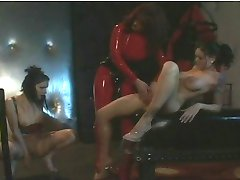 Three hot girls in latex