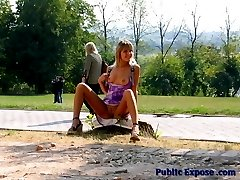 Gal exposes her intimate spots in public