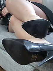 Heidi is only too well aware of what every shoe fetishist would like to do in her shoes! It's the looking at them, the fancy, then the touch, that most intimate touch and your kiss. That sexy rising before it is plunged uncontrollably deep inside and then the final glory